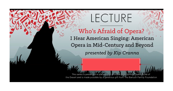 Who's Afraid of Opera?:  Part 2