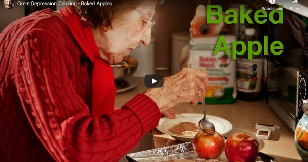 Great Depression Cooking With Clara – Baked Apples