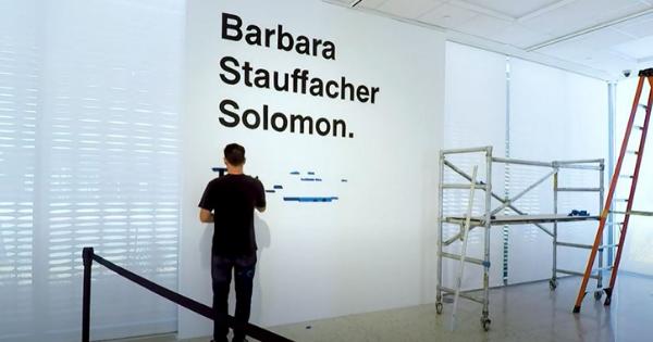 PS Art Museum:  Mural Timelapse – Barbara Stauffacher Solomon