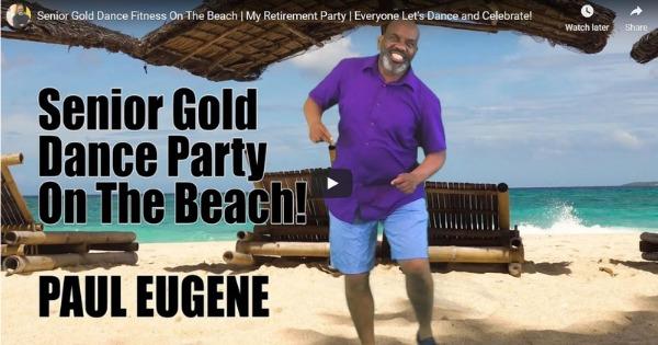 Senior Gold Dance Fitness on the Beach