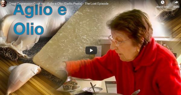 Great Depression Cooking – Garlic Pasta