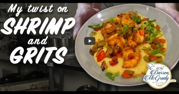 Darren McGrady Cooking for the Queen – Shrimp and Grits