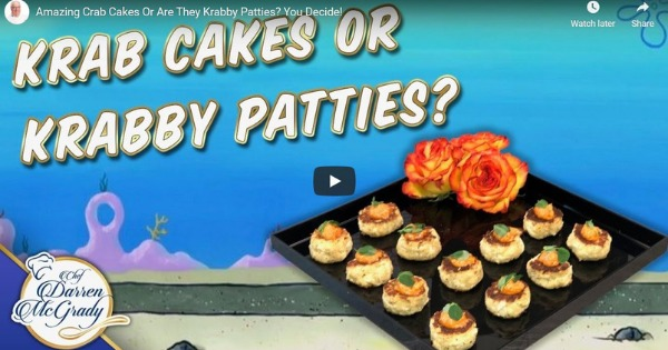 Amazing Crab Cakes Or Are They Krabby Patties? You Decide!