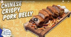 Read more about the article Chinese Crispy Pork Belly with Kimchi Slaw and Hoisin Bao