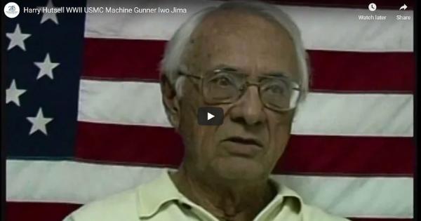 Read more about the article Harry Hutsell WWII USMC Machine Gunner Iwo Jima
