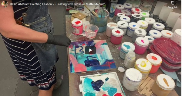 Basic Abstract Painting Lesson 2 With Anne Bedrick