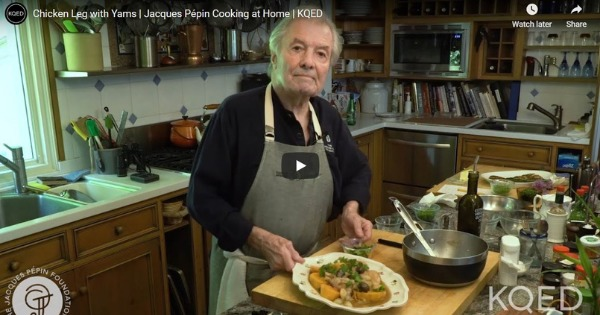 Chicken Leg with Yams | Jacques Pépin Cooking at Home