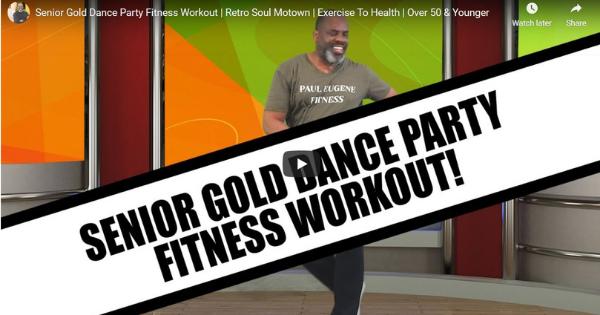 Senior Gold Dance Party Fitness Workout | Retro Soul Motown