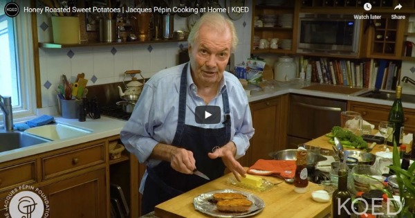 Read more about the article Honey Roasted Sweet Potatoes | Jacques Pépin Cooking at Home