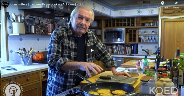 Corn Fritters | Jacques Pépin Cooking At Home
