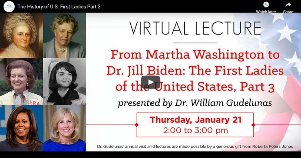 The History of U.S. First Ladies Part 3